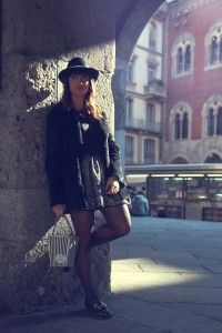 My glamour attitude, fashion blog, fashion blogger, milano, mfw, milan, fashion week, moda, outfit, look, fashion, patrizia pepe, new look, pop corn, bag, borsa, fur, pelliccia, cappello, liu jo