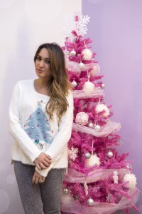 My glamour attitude, christmas, natale, 2014, alcott, maglione, sweater, pink three, albero rosa, love, white, cute, outfit, look, auguri, lorenzo pandarolo ph